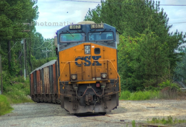 csxt867 at rest at Verdon