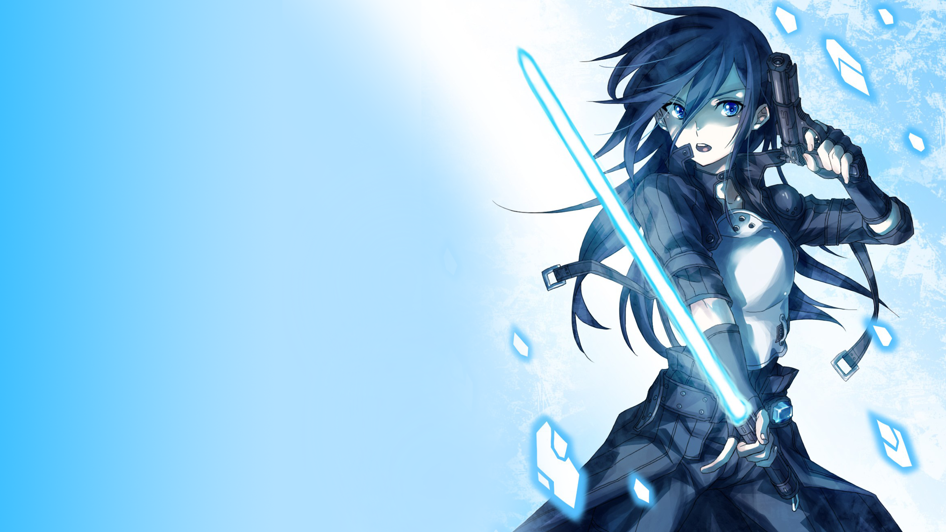 Sword art online kirigaya kazuto kirito photon sword gun gale online