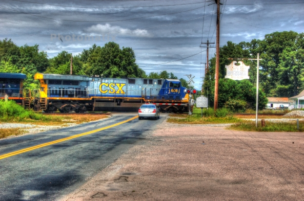 CSXT 608 northbound painterly 8-17-2013