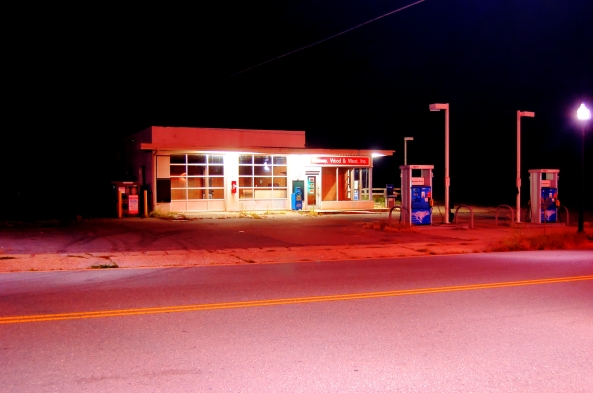 closed exxon station